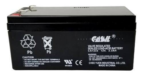 Casil CA1233 12V 3AH 3.3ah 3.4ah Replacement Battery for APC Back-UPS ES350