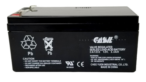 Casil 12v 1.2ah ADI Ademco 484 Security System Battery