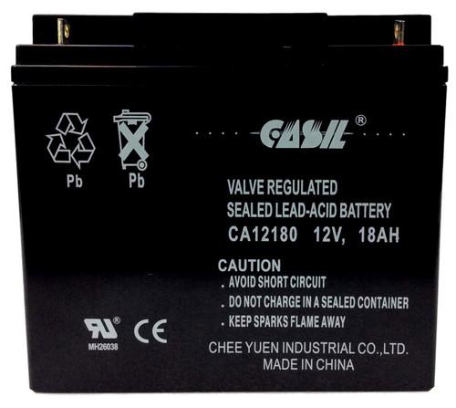 Casil CA12180 12v 18ah AGM Sealed Lead Acid Alarm Battery Nut & Bolt