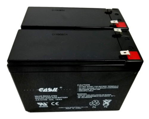 CA12100 12v 10ah Sealed Lead Acid AGM Mobility Scooter Battery F2 - 2 Pack