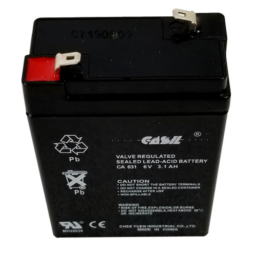 Casil CA3.1 6v 3.1ah SLA Sealed Lead Acid Rechargeable Battery