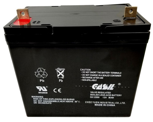 Casil CA12500 12v 50ah UPS APC Sealed Lead Acid AGM Battery Nut & Bolt Terminals