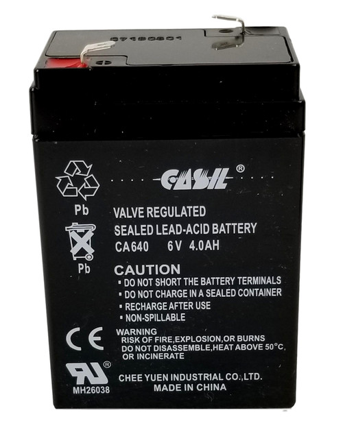 Casil CA640 6v 4ah Rechargeable Sealed Lead Acid Battery Battery