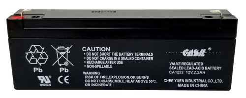 Casil CA1222 12v 2.2ah Sealed Lead Acid Battery