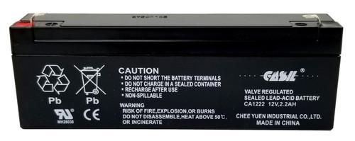 Casil CA1222 12v 2.2ah Sealed Lead Acid Battery