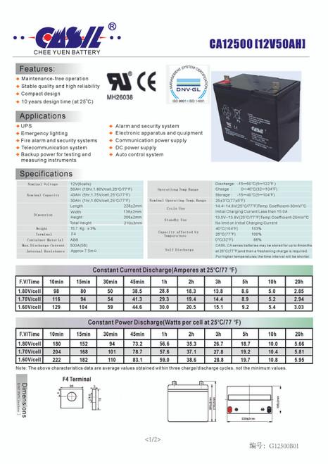 Simplex 2081-9296 Fire Alarm Control Panel Battery 12V 55Ah