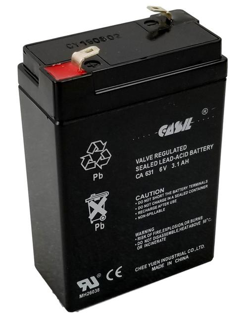 Honeywell Casil Genuine CA631 6V 3.1Ah SLA Battery for 7845GSM-K14139