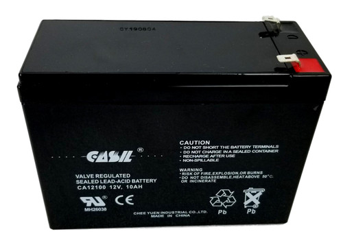 Casil CA1210 12v 10ah Battery 5.94x2.56x4.33