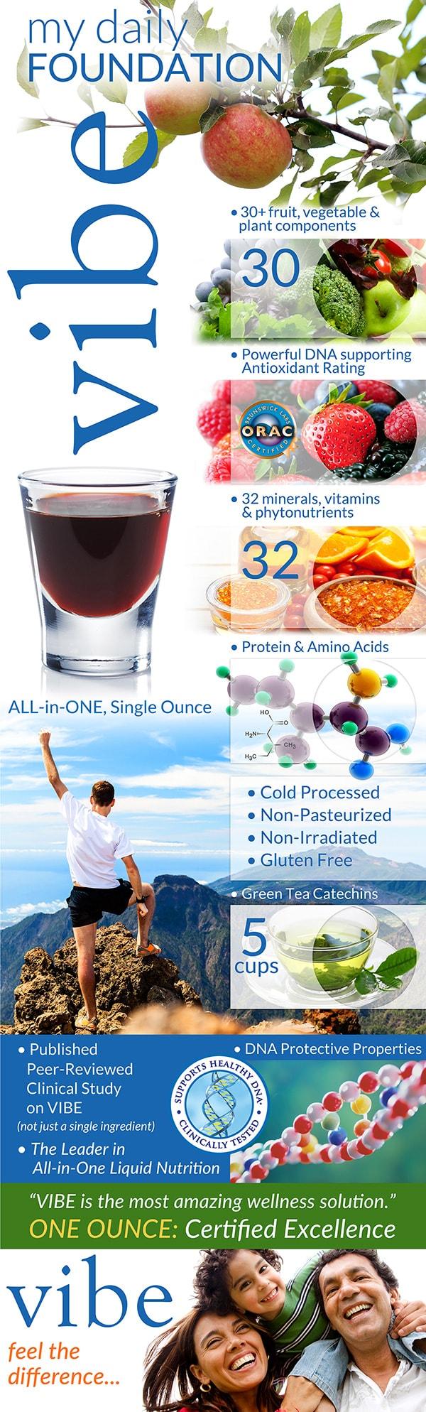 Eniva Vibe Fruit Flavor Liquid Multi Vitamin, Daily Immune Health - Elderberry, Zinc, Vitamin C, Green Tea, Antioxidants, DNA Protection