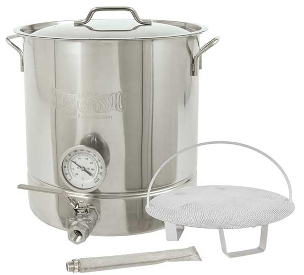 Bayou Classic 10 Gallon Stainless Steel 6 piece Brew Kettle Set 800-410