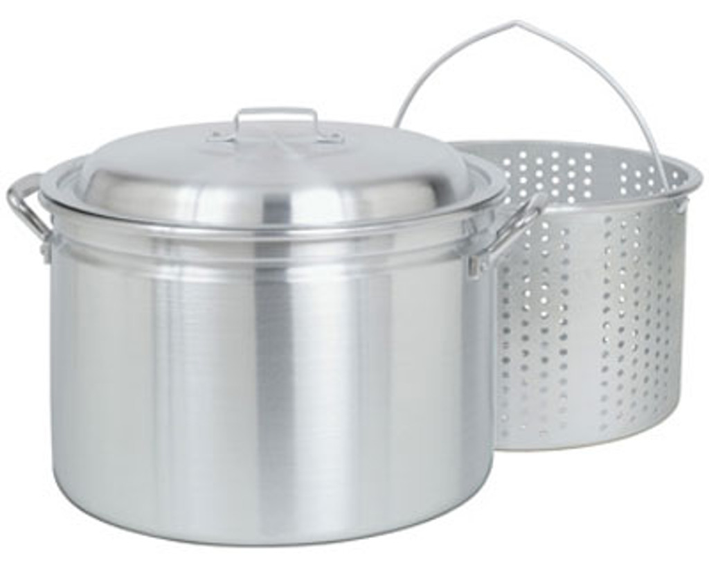 24 qt. Aluminum Steam-Boil-Fry Stock Pot - 4024
