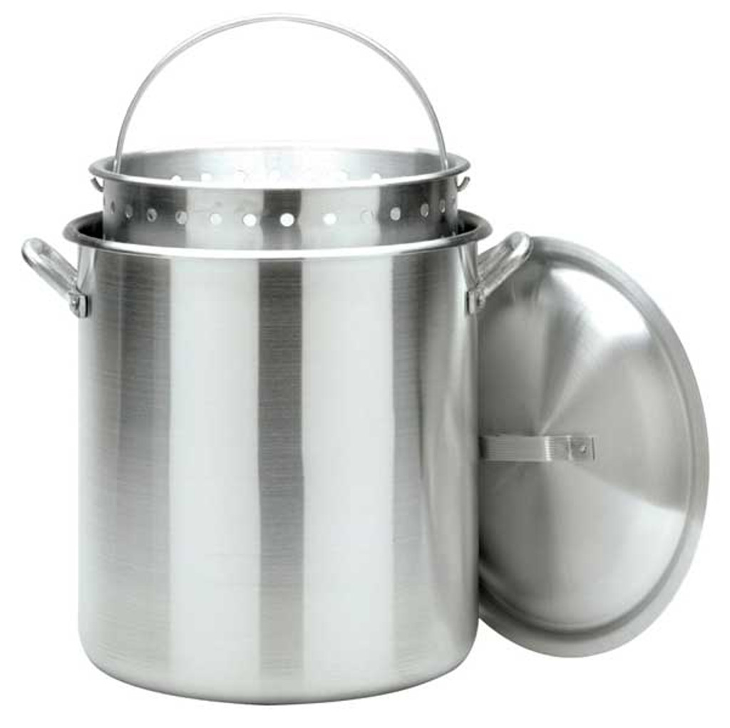 Bayou Classic 160 Quart Aluminum Stock Pot with Basket – 1600