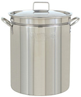 Bayou Classic 44 qt. Stainless Steel Stock Pot with Lid - 1044