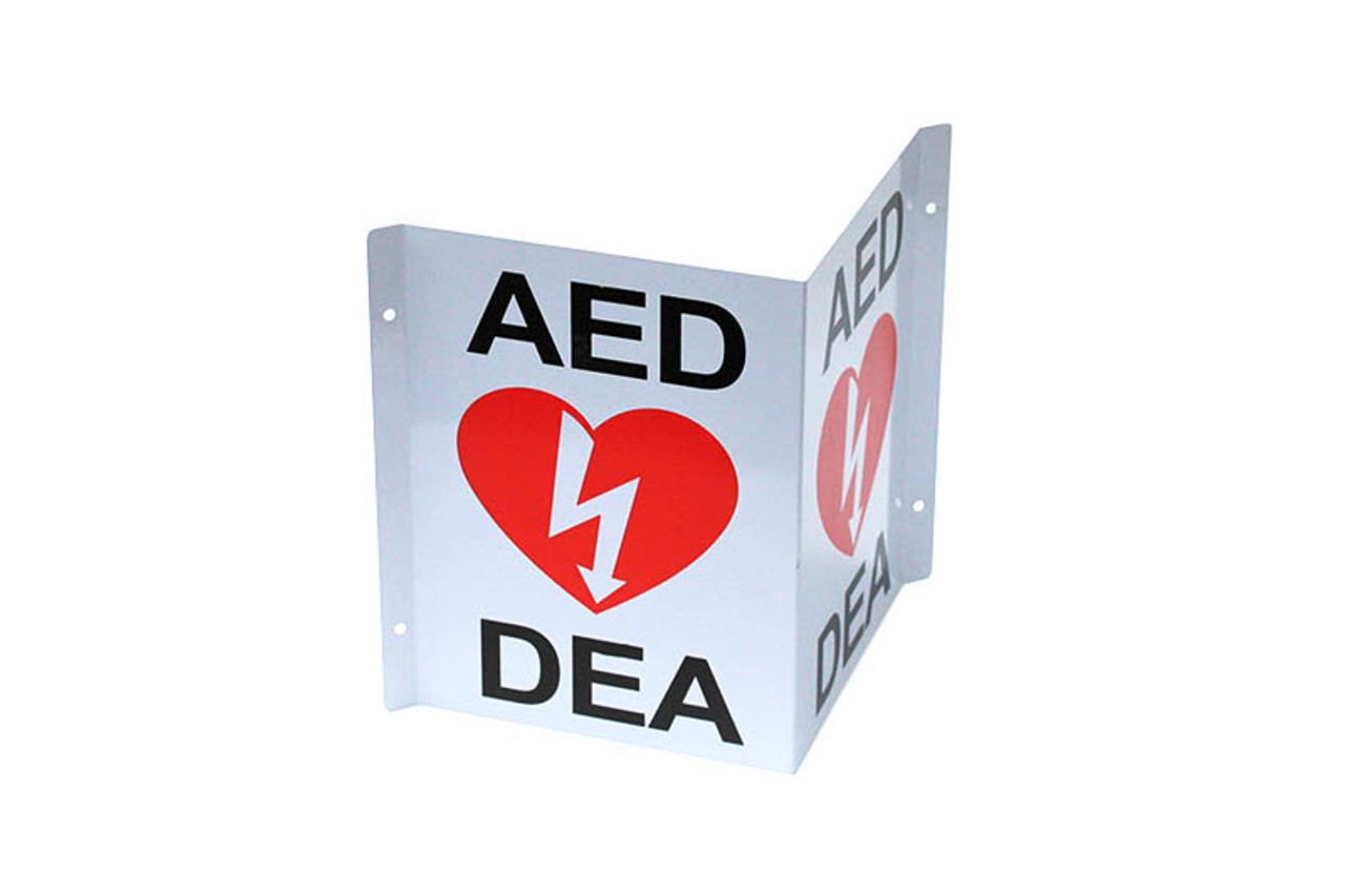 3-Way Wall Sign For AED's