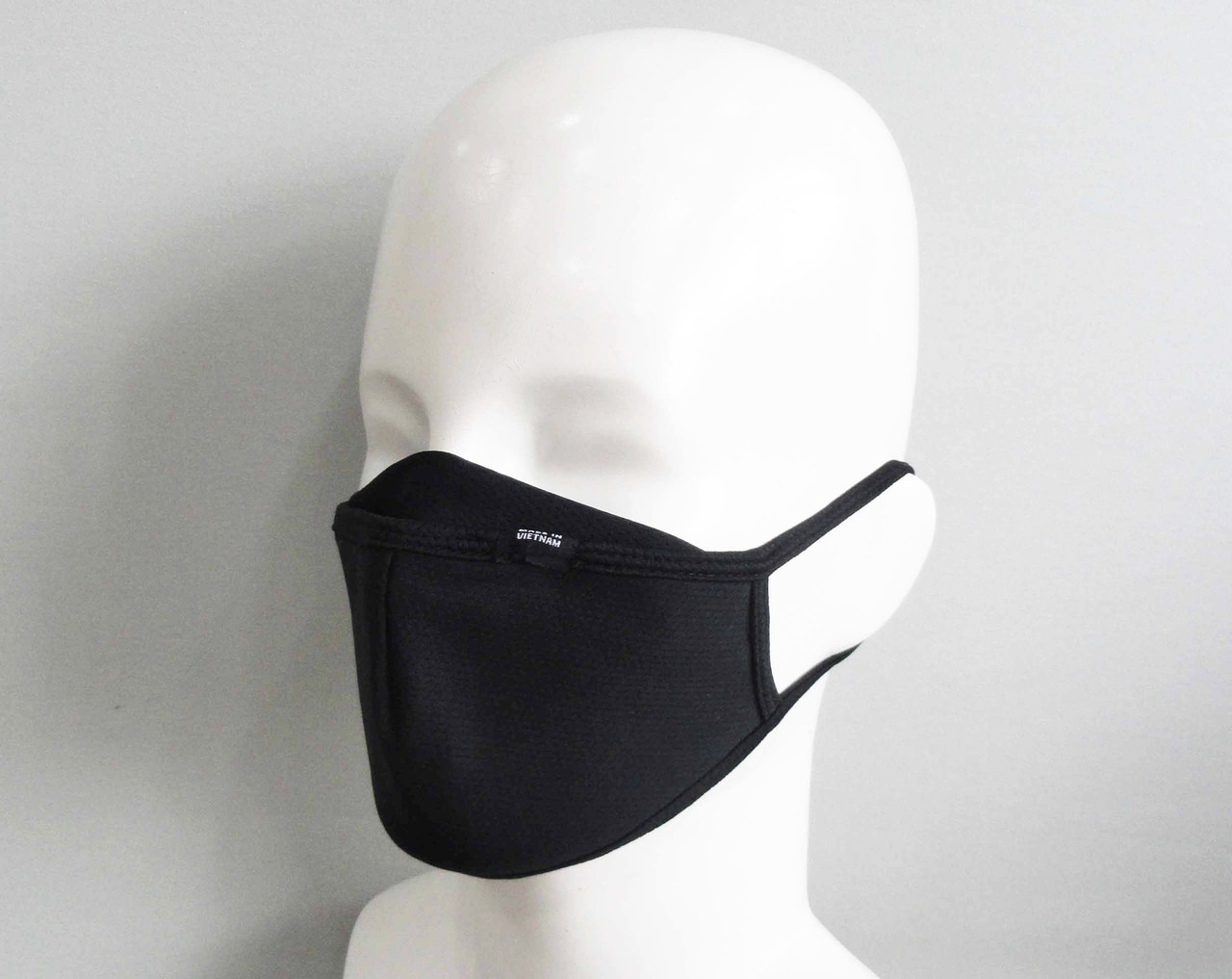 Black 3 layer Face mask - Side