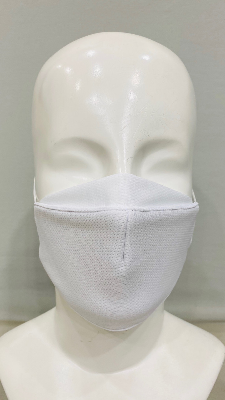 Personal Protective Face Mask - White (3-Layer) Front