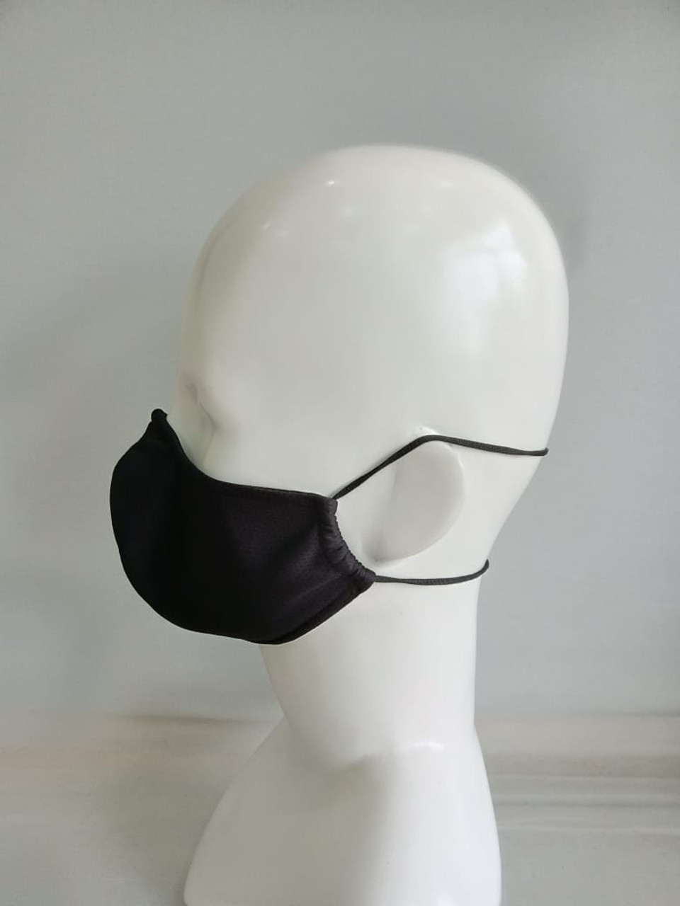 Personal Protective Face Mask Behind the Head Style Strap - Black