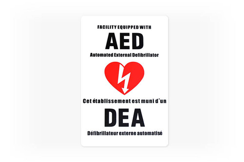 AED Facility Sticker