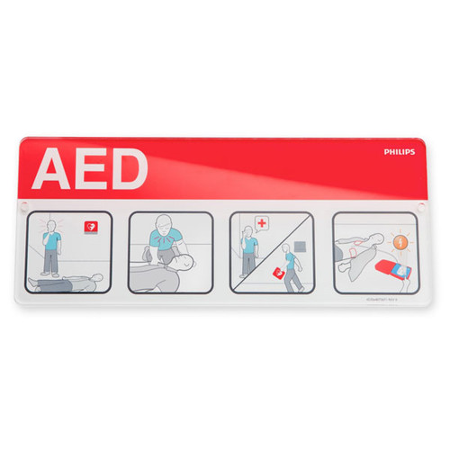Philips AED Awareness Placard