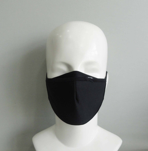 Black 3 layer Face mask - Front