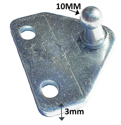FLAT BRACKET 2 HOLE 35MM CENTERS 316 STAINLESS