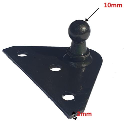 STEEL FLATBRACKET BLACK PASSIVATE 3 HOLES