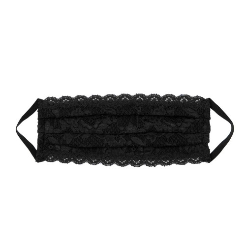 Cosabella black lace facemask