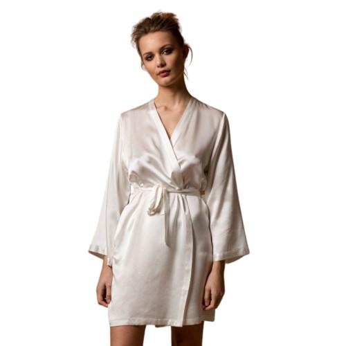 Marjolaine Soie Unie Laser Silk Robe