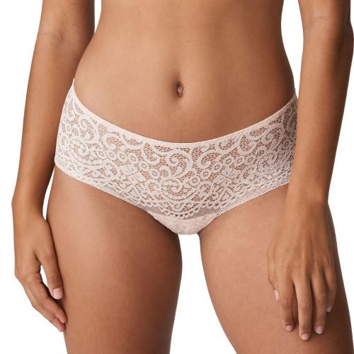 Prima Donna Twist I Do Black Lace Hotpants 0541602 Silky Tan Front