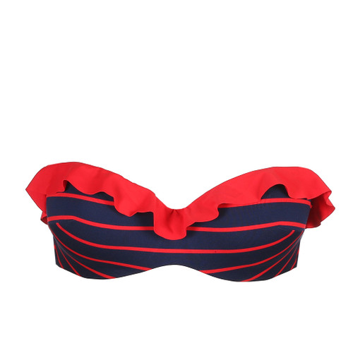 Marie Jo Swim Celine Strapless  Bikini Top 10025168 Navy Red