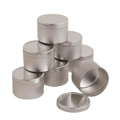 Tinned Sample Containers 8oz Pkg 12 Sample Pans Bowls