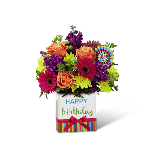 The FTD Birthday Brights  Bouquet - Deluxe
