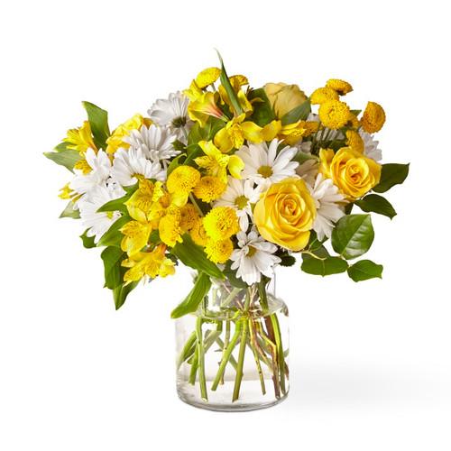The FTD® Sunny Sentiments Bouquet - Premium