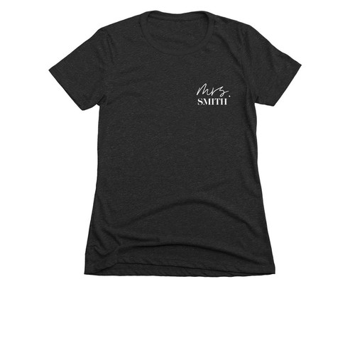 Mrs. Slim Fit Women's Tee Personalized (White)