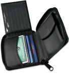 Men's Zippered Wallets  Card Case