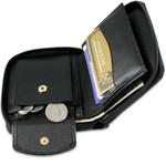 Men's Zippered Wallets  Coin Pocket Open