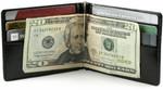men's money clip wallet open