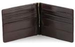 men's money clip wallet  Brown Open