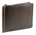 Leather Money Clips Wallet Brown