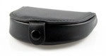 Horse Shoe Leather Coin Purse with Snap Black