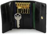 Eel Skin Key Case Holder Black