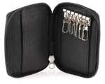 Leather Key Case with Credit Card Holder