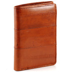eel skin wallet trifold orange