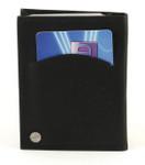 swivel credit card holder with wallet inserts black back