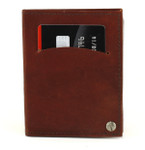 swivel credit card holder with wallet inserts burgundy