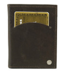 swivel credit card holder with wallet inserts brown