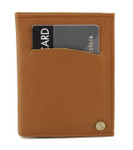 swivel credit card holder with wallet inserts tan