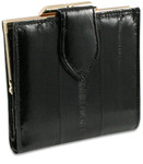 Eel Skin Leather Ladies Wallet with Coin Case-front