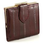 Eel Skin Leather Ladies - Burgundy