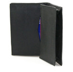 Double Gusseted Credit Card Holder - Black